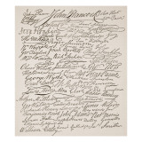 Signatures to the Declaration of Independence  1776