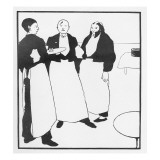Garcons De Cafe  Illustration Form 'The Yellow Book'  1894