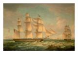 Merchantmen in a Stiff Breeze Off the Cliffs of Dover