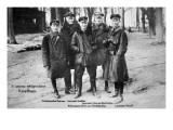 Baron Von Richthofen with Fellow Pilots  Including His Brother Lothar