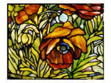 Detail of an 'Oriental Poppy' Floor Lamp  Tiffany Studios  1902