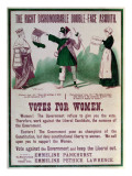 "Women's Suffrage Poster ""The Right Dishonourable Double-Face Asquith""  C1910"