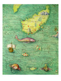 Iceland  from an Atlas of the World in 33 Maps  Venice  1st September 1553
