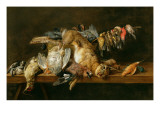 Still Life of Dead Birds and a Hare on a Table  1647