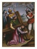 The Bearing of the Cross  Simon of Cyrene Helps Jesus