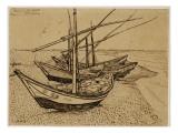 Fishing Boats on the Beach at Saintes-Maries-De-La-Mer  1888