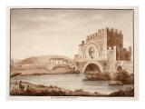 Ponte Nomentano  or Lamentano  1833