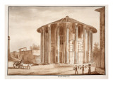 The Temple of Hercules Victor  1833