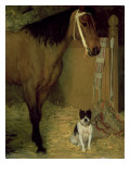 At the Stable  Horse and Dog  C1862
