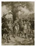 St Edmund Slain by the Danes  870 Ad