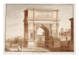 The Arch of Titus  Restored by Pius Vii  1833