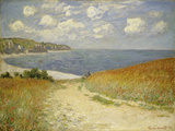 Chemin dans les blés à Pourville, 1882 Reproduction d'art par Claude Monet