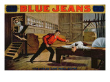 The Great Saw Mill Scene'  Poster for 'Blue Jeans'