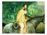 Portrait of Gillaudin on a Horse