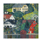 Houses at Unterach on the Attersee  C1916