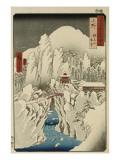 Mount Haruna in Snow  Ueno Province