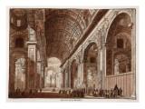 Interior of St Peter's Basilica  1833