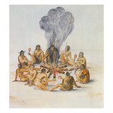 Indians Round a Fire