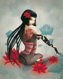Miss Lily Reproduction d'art par Misstigri