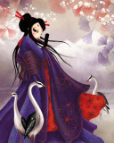 Miss Sakura Reproduction d'art par Misstigri