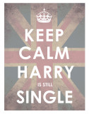 Keep Calm  Harry is Still Single