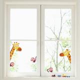 Giraffes and Monkeys Window Decal Sticker