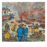 Shacktown (`Hooverville') Being Burned Down by Orders of the City Authorities