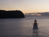 Lighthouse on Horta Jetty at Dawn