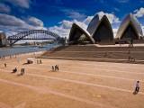 The Sydney Opera House and Harbour Bridge