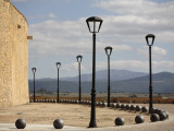 City Walls with Streetlamps and View Towards Portugal