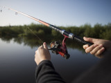Fishing from Houseboat on Shannon-Erne Waterway