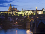 Prague Castle and St Vitus Cathedral at Dusk