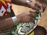 Embera Indian Woman Weaving Basket