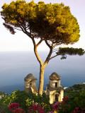 View from the 13th Century Villa Rufolo in Ravello  Amalfi Coast