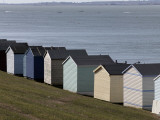 Colourful Beach Huts at the Seaside in Whitstable