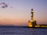 Venetian Lighthouse at Entrance to Hania Harbour