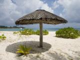 Sun Shade on Beach  Taj Denis Island Resort  Denis Island  Seychelle