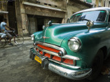 Vintage 1950's Car Parked on Street in Vedado District