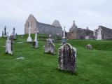 Clonmacnoise Crosses and Temples at Dawn