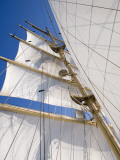 Star Clippers' Star Flyer Sailing Ship in the Aegean Sea