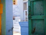 Green Door and Blue Walls