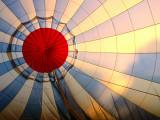 Inside an Inflating Hot-Air Balloon at Dawn
