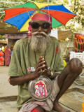 Portrait of Sadhu Wannabe  One of Many Fake Holy Men Looking for Donations During Pushkar Mela