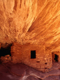 Ancestral Puebloan Cliff Dwellings at House on Fire Ruin in Mule Canyon  Cedar Mesa