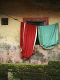 Saris Hanging on Line