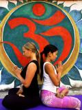 Yoga Practitioners Meditating in Lotus Pose