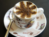 Macchiato Coffee at Coffee Shop on Haile Selasse Street
