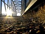 Old Route 66 Metal Bridge over Rio Peurco  20 Miles West of Albuquerque