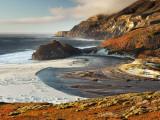 Little Sur River Flowing into the Pacific at Big Sur
