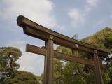 Torii (Gate) Near Entrance to Meiji-Jingu Shrine